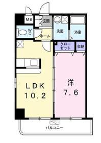元住吉駅 バス9分「江川町」徒歩2分2階Fの間取り画像