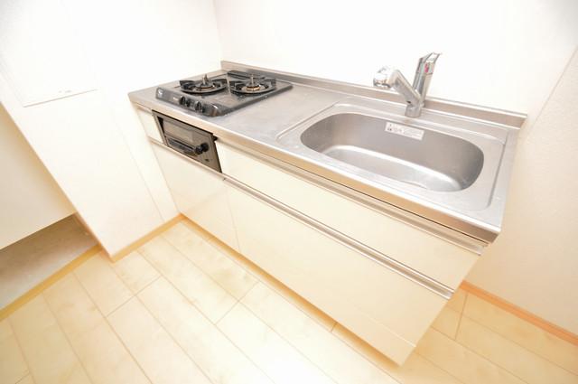 ディオーネ・ジエータ・長堂 システムキッチンは広々と使えて、お料理が楽しくなります。