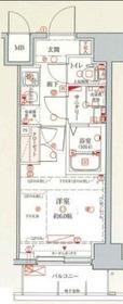 クレヴィスタ横浜新子安11階Fの間取り画像