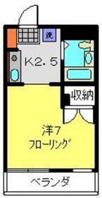 コーポ司3階Fの間取り画像