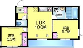 仮 細田4丁目メゾン2階Fの間取り画像