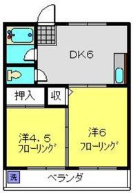 新羽駅 徒歩12分2階Fの間取り画像
