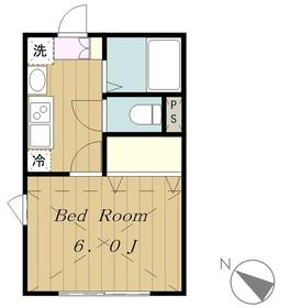 ヴェルドマーニ2階Fの間取り画像
