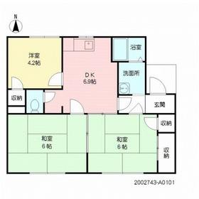 ベルテック須屋Ⅱ A棟1階Fの間取り画像
