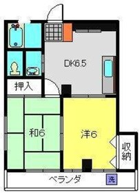 KKビル3階Fの間取り画像