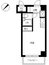 スカイコート世田谷用賀8階Fの間取り画像