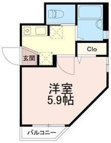 エムフェリーチェ(Mフェリーチェ)2階Fの間取り画像