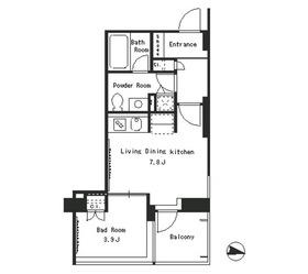 パークアクシス西麻布ステージ3階Fの間取り画像