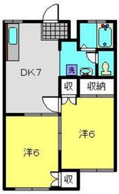シェモア1階Fの間取り画像
