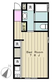 リシェス橋本2階Fの間取り画像