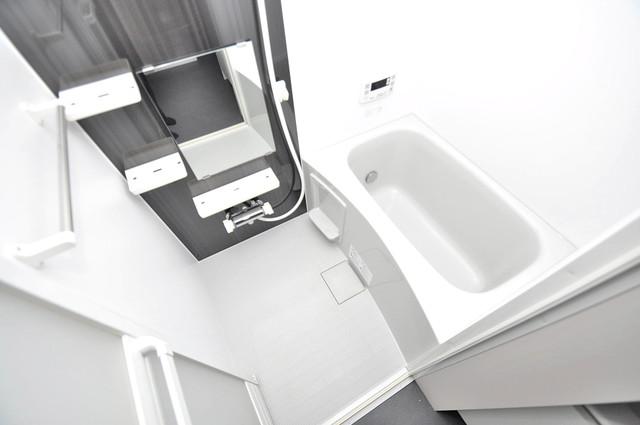 クロスレジデンス布施 足が伸ばせる広い浴槽はナイスですね!