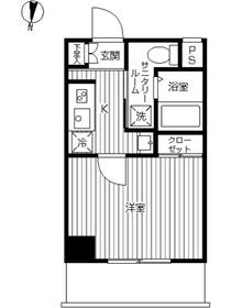 スカイコート武蔵新田2階Fの間取り画像
