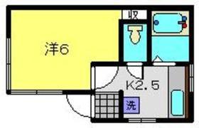 石井ハイツ1階Fの間取り画像