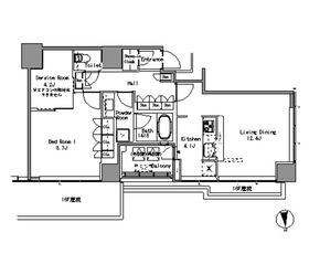 White Tower Hamamatsucho18階Fの間取り画像