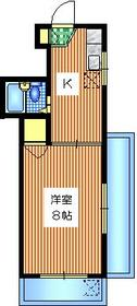 シャトレー富ヶ谷3階Fの間取り画像