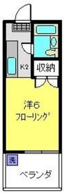 加野ハイツ3階Fの間取り画像