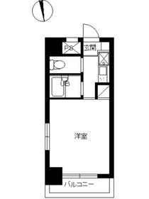スカイコート早稲田第38階Fの間取り画像