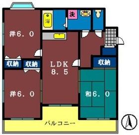 キャッスルサザン3階Fの間取り画像