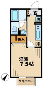本厚木駅 バス13分「観音坂」徒歩3分2階Fの間取り画像