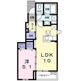 京急長沢駅 徒歩8分1階Fの間取り画像