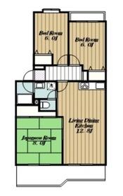 ロイヤルハイツⅠ3階Fの間取り画像