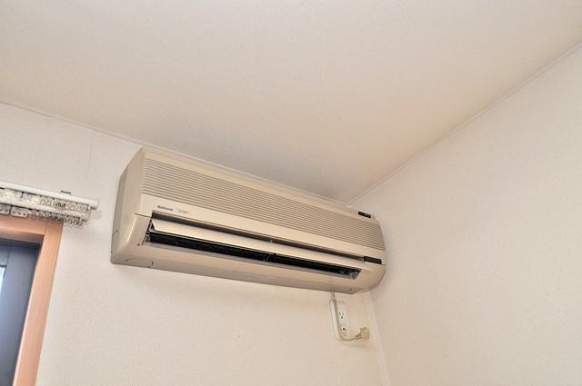 メゾンドゥエスポワール エアコンが最初からついているなんて、本当に助かりますね。