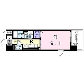 南林間駅 徒歩3分3階Fの間取り画像
