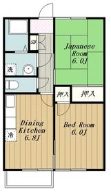本厚木駅 バス14分「下依知入口」徒歩13分1階Fの間取り画像