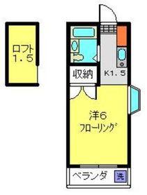 メゾンド旭2階Fの間取り画像