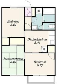 本厚木駅 バス12分「妻田」徒歩5分1階Fの間取り画像