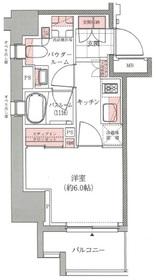 アトラス西早稲田4階Fの間取り画像