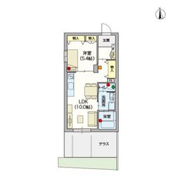 (シニア限定)ヴィレッジ高円寺南1階Fの間取り画像