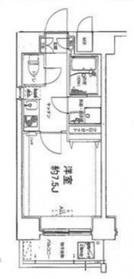 グランリーヴェル横濱ポートシティ7階Fの間取り画像