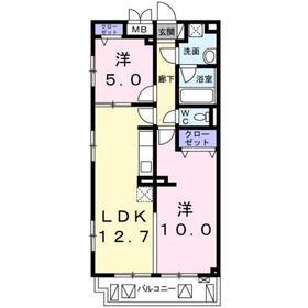 Felicias Ryusen2階Fの間取り画像