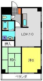 上大岡コンフィーネ斉藤6階Fの間取り画像