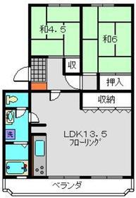 サンコーポ蒔田A棟5階Fの間取り画像