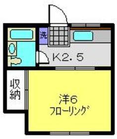 元住吉駅 徒歩4分1階Fの間取り画像