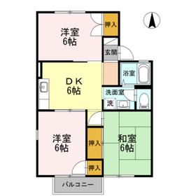 シャルム小野Ⅱ2階Fの間取り画像