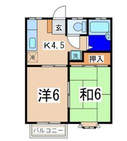 メゾンドール磯子2階Fの間取り画像