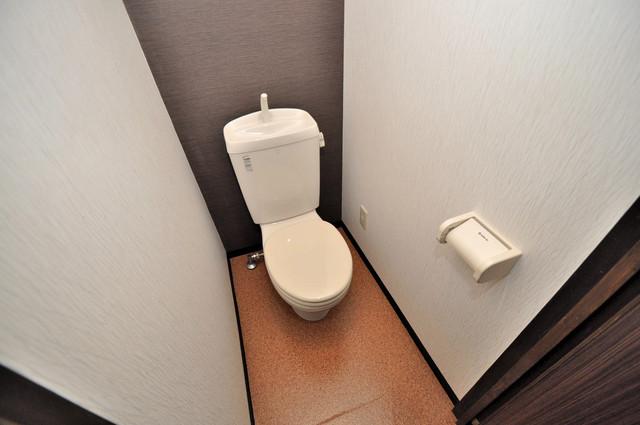 エフェクティブハウス布施 清潔感のある爽やかなトイレ。誰もがリラックスできる空間です。