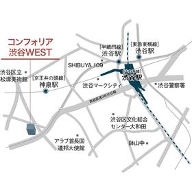 コンフォリア渋谷WEST案内図