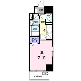 東峰聖蹟11階Fの間取り画像