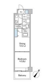 ソナーレ横浜2階Fの間取り画像