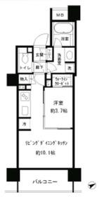 パークホームズ目黒リバーサウスアーバンレジデンス13階Fの間取り画像
