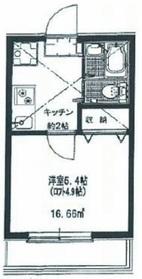 リーヴェルポート横浜上星川Ⅲ2階Fの間取り画像