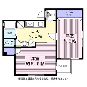 以呂波ビル4階Fの間取り画像
