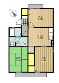 セジュール大島B2階Fの間取り画像