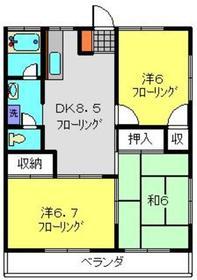 サンクレストA2階Fの間取り画像