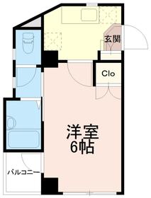 稲城蔵ビル3階Fの間取り画像