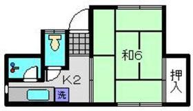赤井アパート2階Fの間取り画像